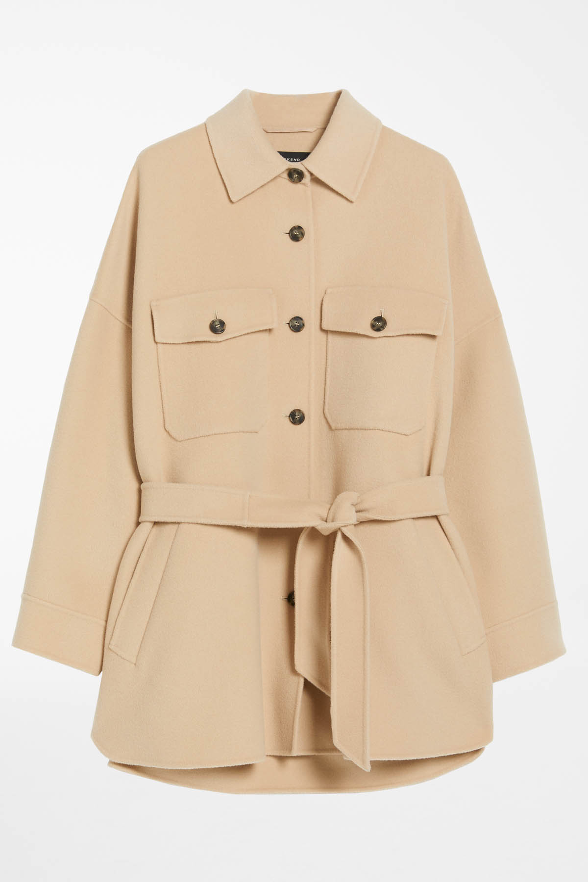 giacca in lana con tasche e cintura MAX MARA WEEKEND | 3 | 50860319600065