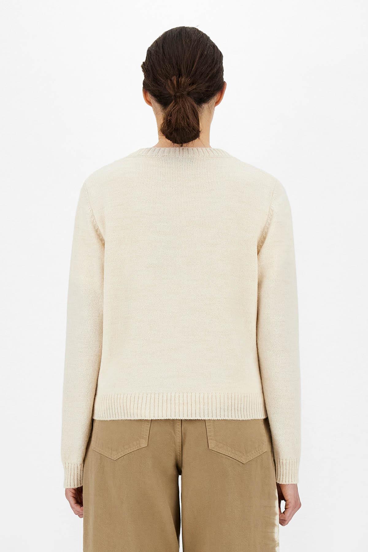 maglia in lana e alpaca con intarsio MAX MARA WEEKEND | 7 | 53661219600001