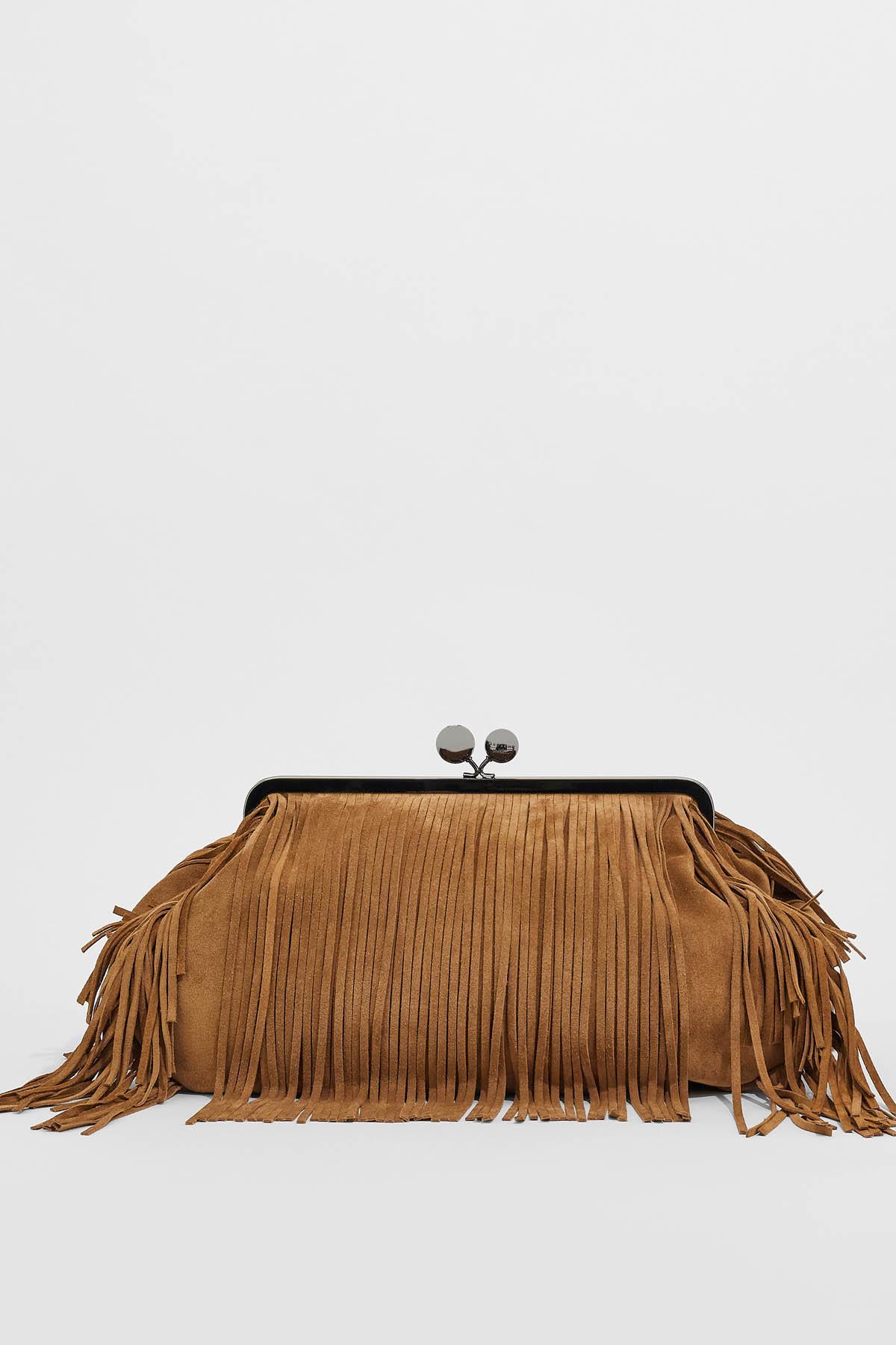 borsa pasticcino bag grande in pelle scamosciata MAX MARA WEEKEND | 31 | 55160612600001