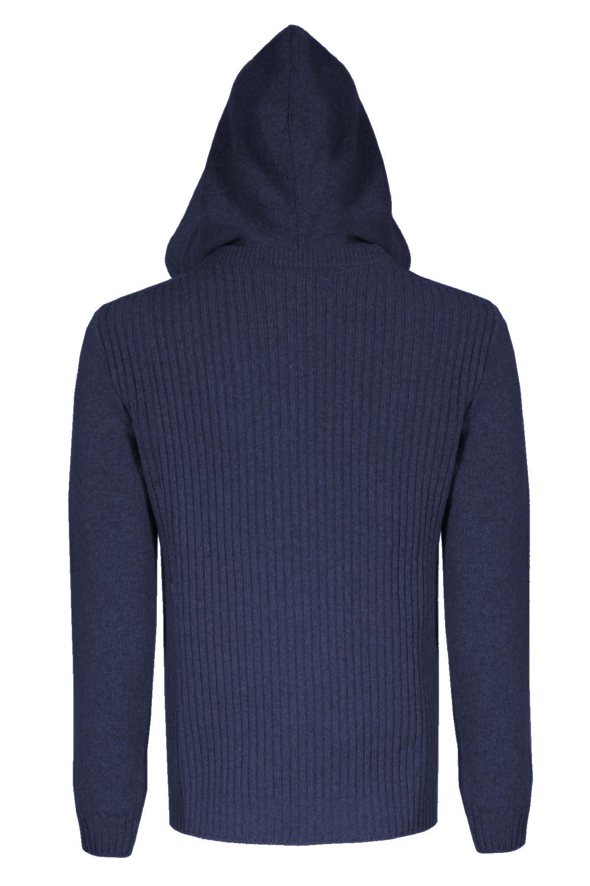 maglia damien in lana con cappuccio logo pmds PMDS | 7 | 665MGA06
