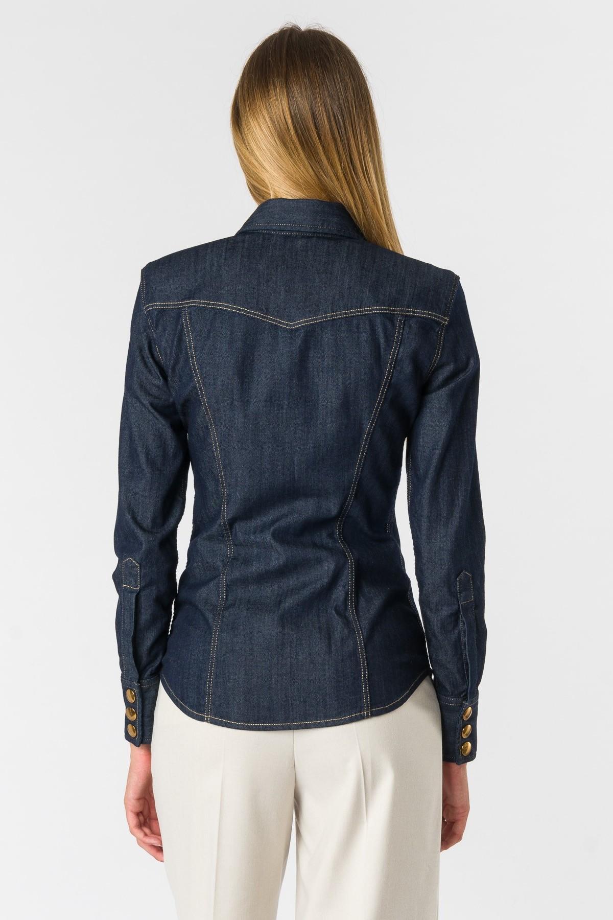 camicia cara in denim stretch Seafarer | 6 | SWC0001TDS00025999