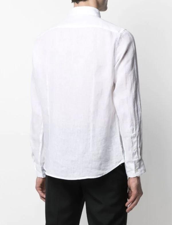 Altea camicia bond in  lino collo italia bianca Altea | 6 | 215400129/R