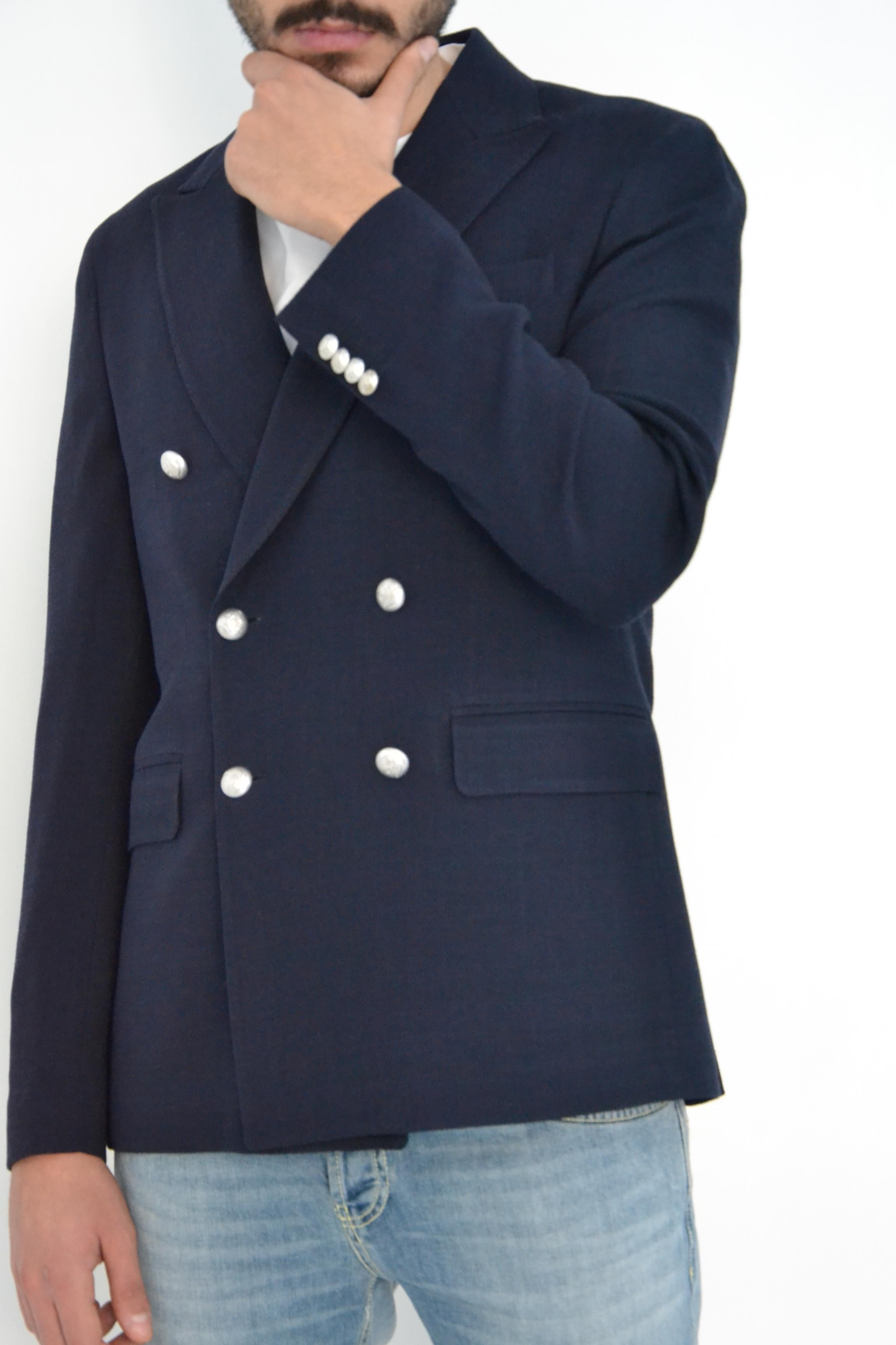 Brian Dales Giacca doppio petto blu navy BRIAN DALES   3   G43JK4554001