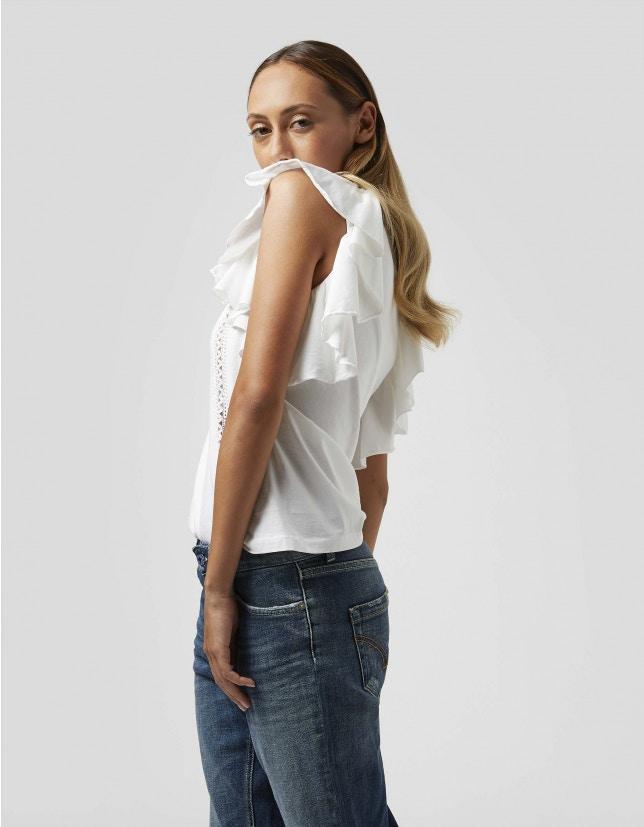Dondup shirt rouches e ricami DONDUP   40   S871JF0290D000