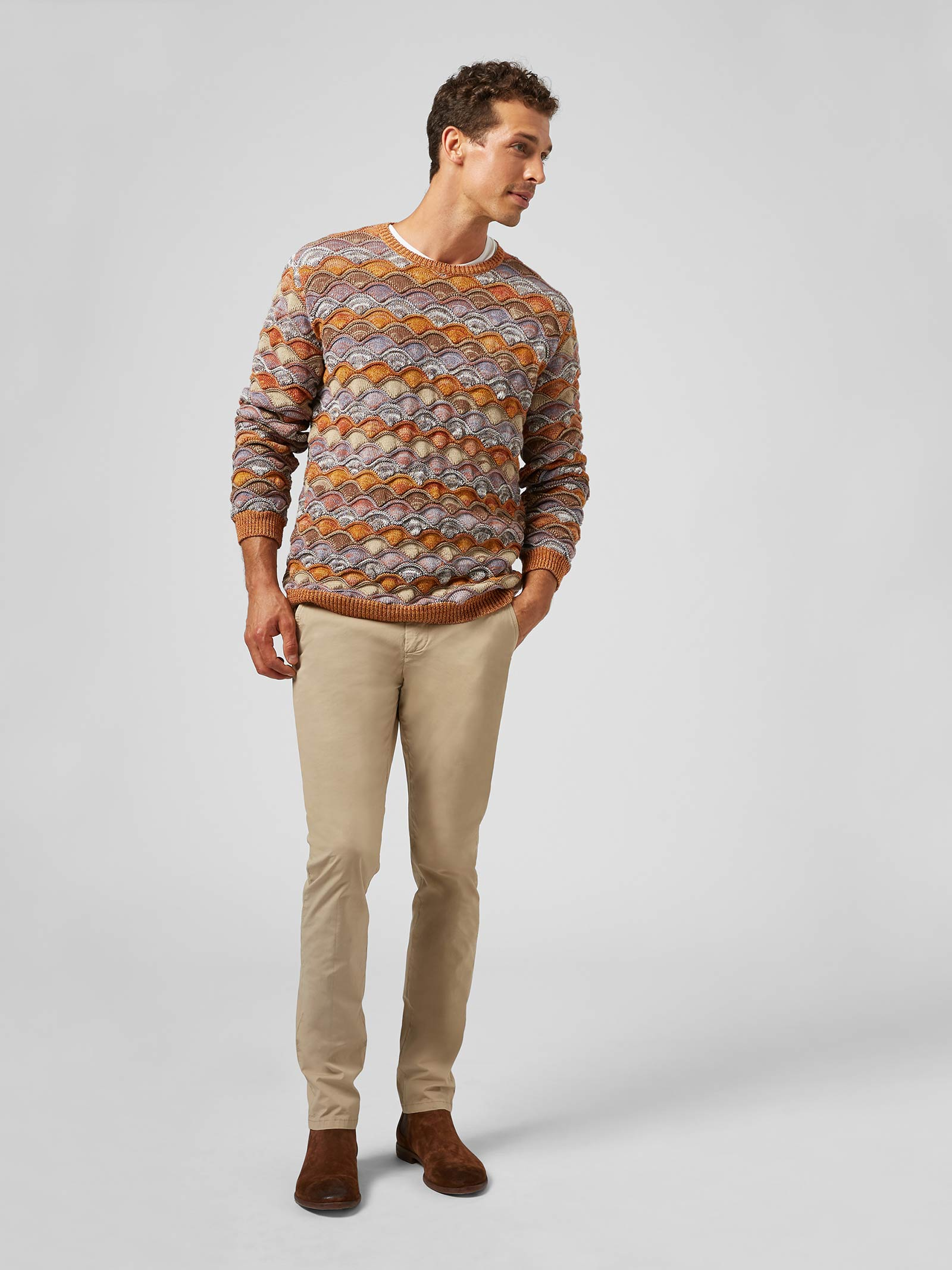 Dondup  Pantalone slim Gaubert in popeline DONDUP | 9 | UP235PS0019UPT4019