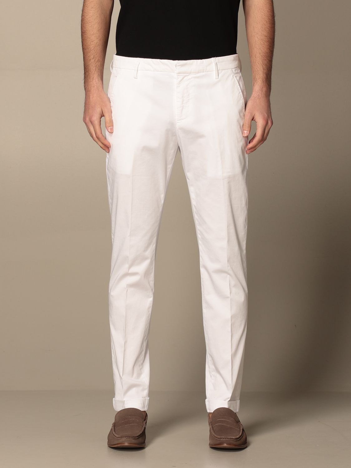 Dondup Pantalone slim Gaubert in raso stretch DONDUP | 9 | UP235RSE036U001