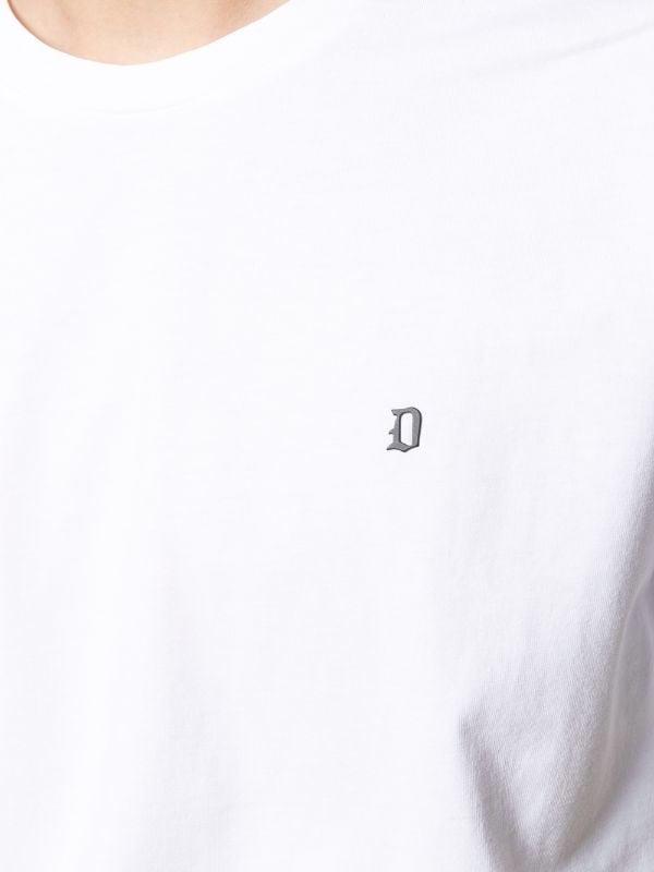 Dondup T-shirt  regular in jersey di cotone con logo metallo DONDUP | 8 | US198JF0283UZL4000