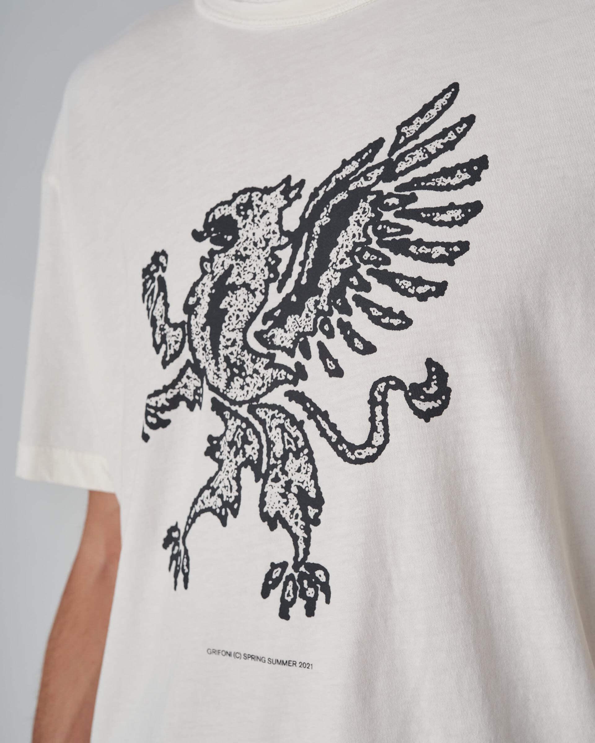 Grifoni t-shirt girocollo stampa grifone Grifoni | 8 | GI180001S/551902