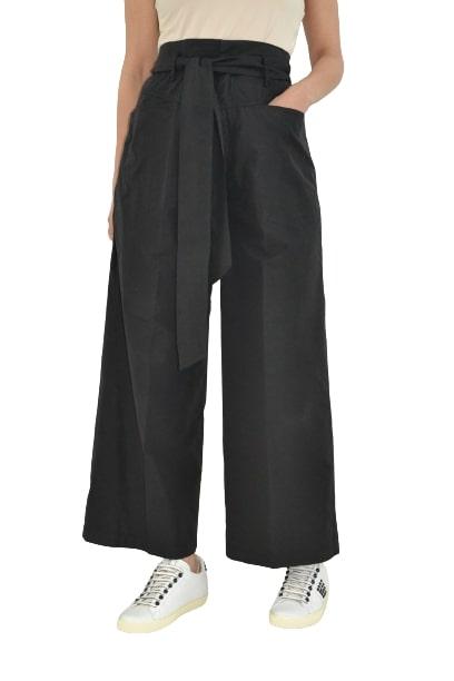 Grifoni pantalone crop arriccio vita con cintura Grifoni | 9 | GI240016/13003