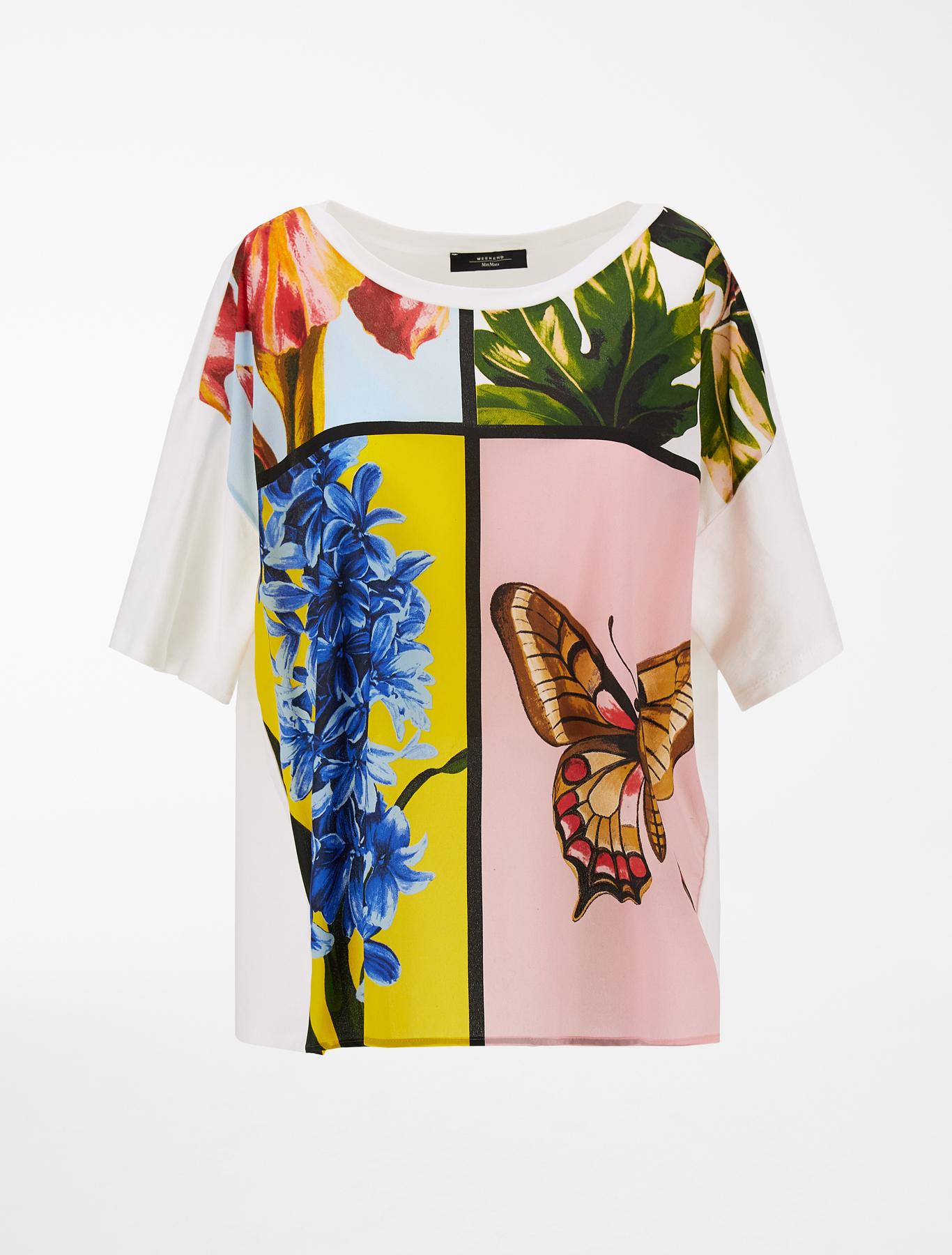 Weekend Max Mara T-shirt in crêpe de Chine di seta MAX MARA WEEKEND | 8 | 59411011600001