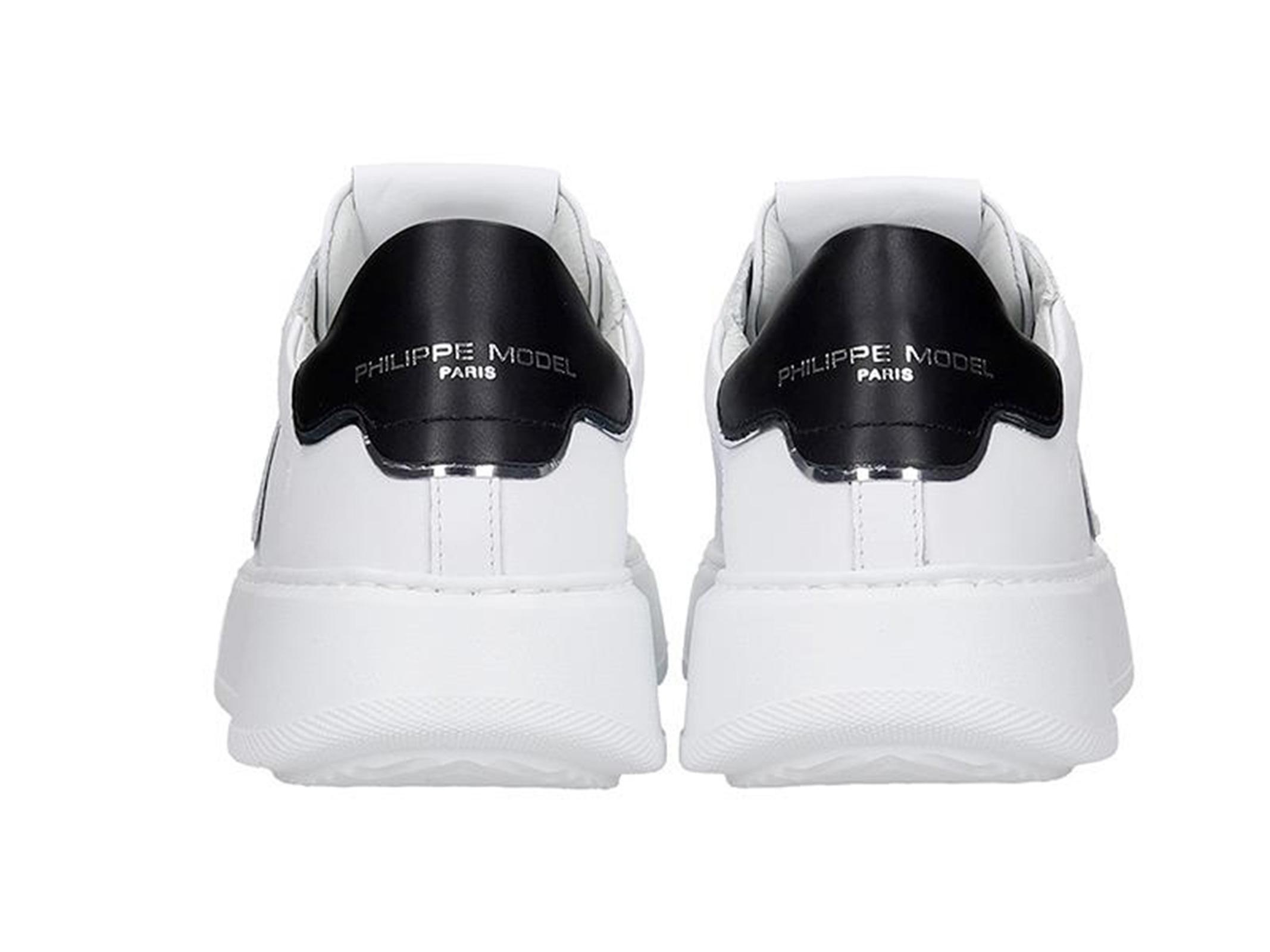 Philippe Model Philippe Model Sneakers Temple Veau - Blanc Noir Philippe Model | 10000002 | A10ILBTLDV005010