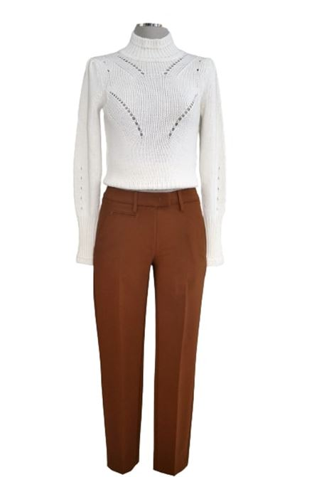 Pantalone slim perfect in tela di lana tabacco DONDUP | 9 | DP066TS0009D016