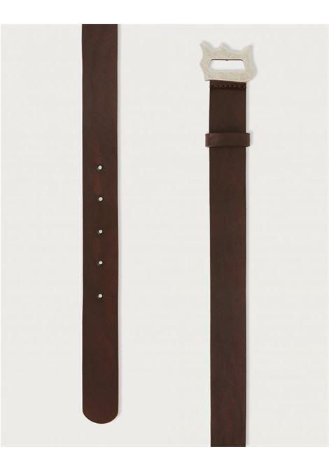 Cintura con D Logo in cuoio DONDUP | 22 | XC116PL0250U721