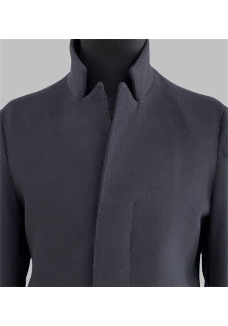 Brian Dales Cappotto monopetto bavero alto in lana blu BRIAN DALES | 17 | G708JK4436005