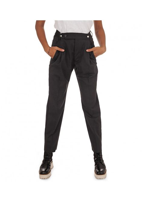 Grifoni Pantalone nero con automatici in lana vergine Grifoni | 9 | GH240008/18003