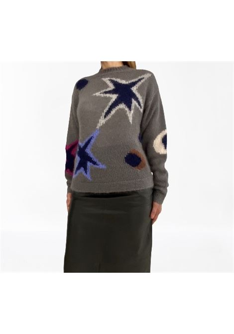 Grifoni Maglieria  lana girocollo intarsio stelle Grifoni | 5032251 | GH310034/67365