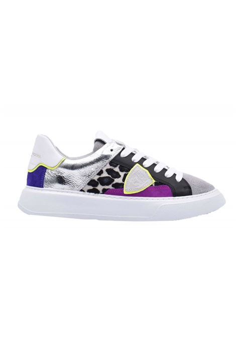 Sneakers Temple Veau mix di materiali Philippe Model | 12 | A10IBTLDFP0202