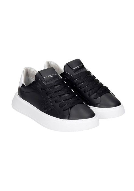 Sneakers Temple Veau- Noir Blanc Philippe Model | 12 | A10ILBTLDV005005