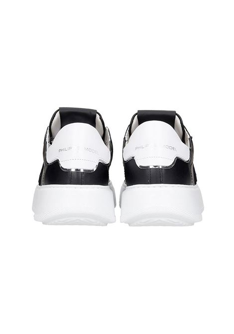 Sneakers Temple Veau- Noir Blanc Philippe Model | 12 | A10ILBTLDV005005