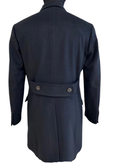 cappotto in lana doppiopetto blu BRIAN DALES | 17 | S28JK4660004