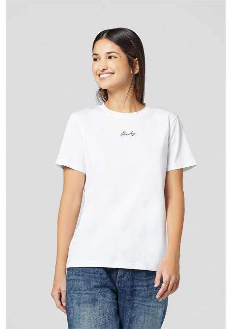 Dondup T-shirt  boxy logo corsivo DONDUP | 8 | S746JF0271DBY1000