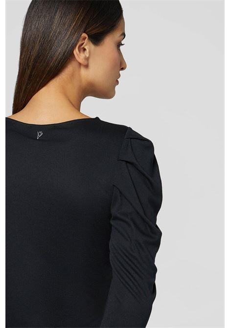 t-shirt manica lunga girocollo modal e cachemire DONDUP | 5032251 | S885JF0297D999