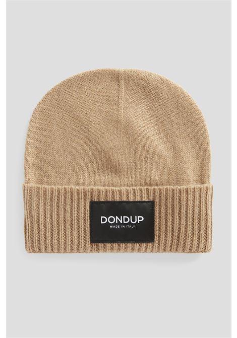 cappello in cachemire con etichetta logo DONDUP | 26 | UQ100Y00480U728