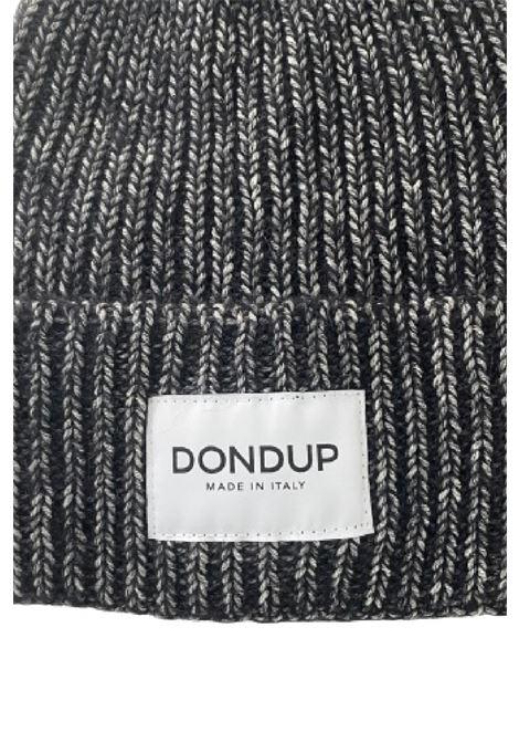 cappello con etichetta logo lana alpaca melange DONDUP | 26 | WQ104Y00499D999