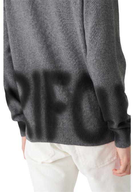 maglia girocollo in cachemire con scritta sfumata Grifoni | 5032251 | GL110016/61007