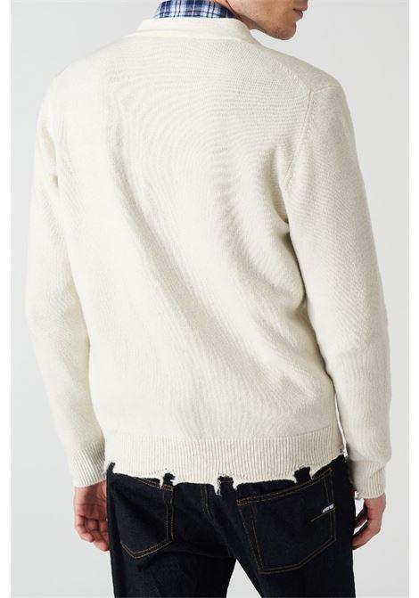 cardigan college in maglia c/rotture Grifoni | 39 | GL110023/64045