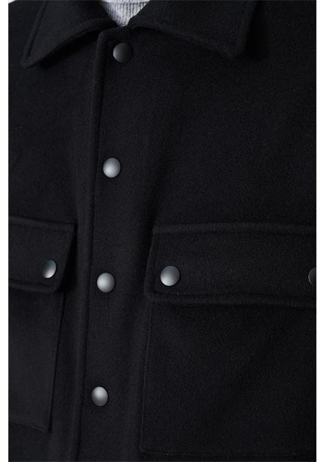 giubbino camicia in panno di lana e cachemire con tasche applicate Grifoni | 13 | GL161020/29003