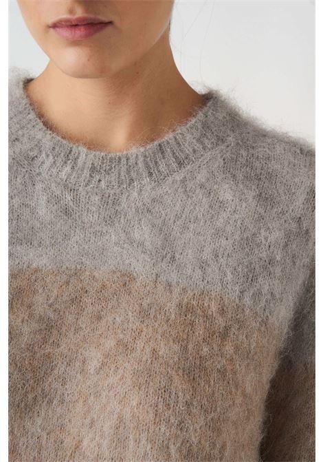 maglia girocollo sfumata a righe in alpaca e mohair Grifoni | 7 | GL210060/71257