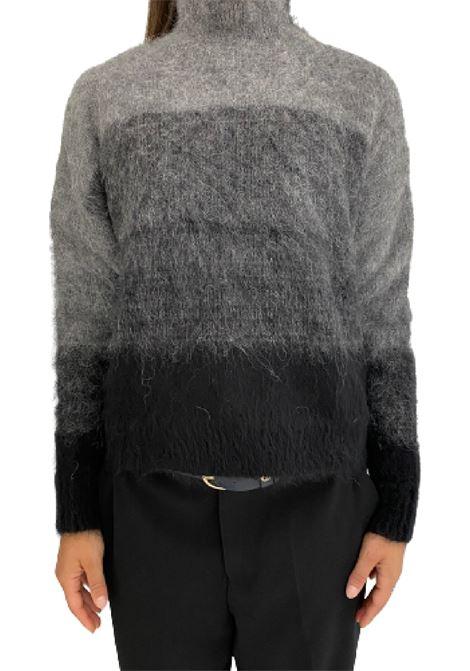 maglia dolcevita a righe sfumata in alpaca e mohair Grifoni | 7 | GL210061/71007