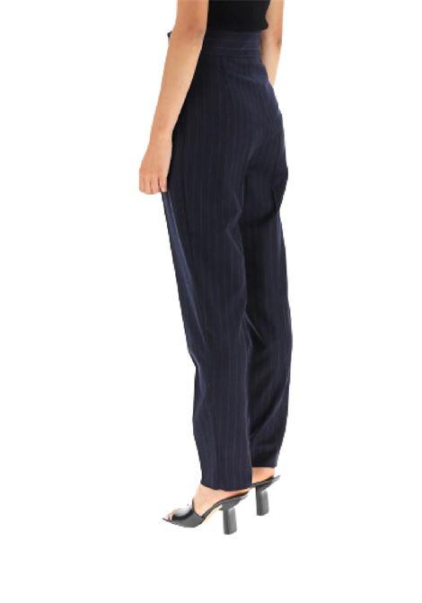 pantalone gessato in flanella di lana stretch MAX MARA Studio | 9 | 61360513600009