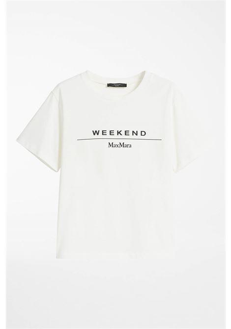t-shirt in jersey di cotone logata MAX MARA WEEKEND | 8 | 59760319600002