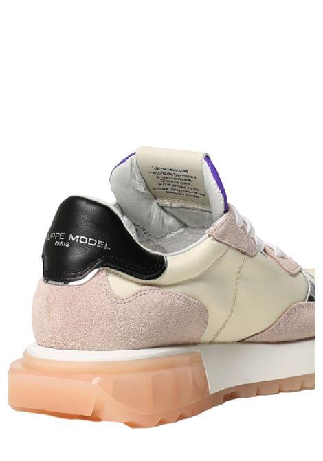 sneakers la rue mondial pop beige violet Philippe Model | 10000002 | LRLDWP05