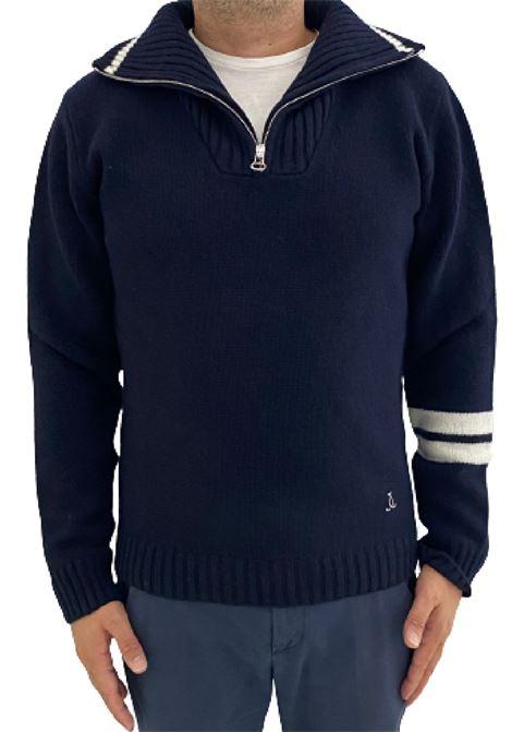 maglia byron lana cardata collo con zip Seafarer | 7 | SMM0006MWF00045090