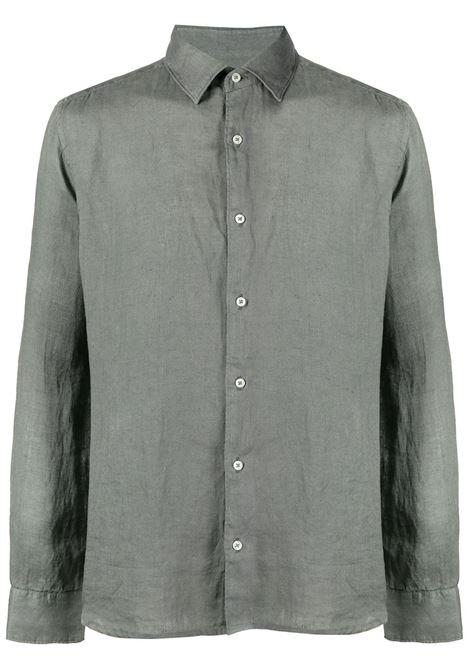 Altea camicia bond in  lino collo italia Verde Militare Altea | 6 | 215400146/R