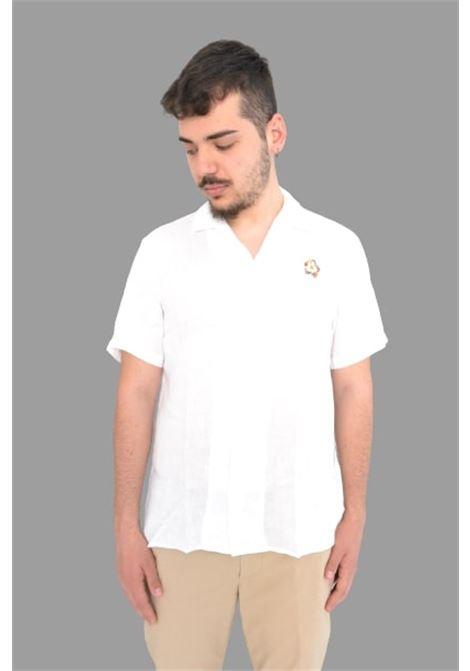 Altea camicia m/m lino con  ricamo Altea | 6 | 215404729/R
