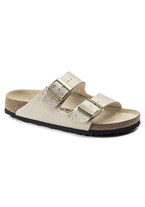 Birkenstock Sandalo shiny White /gold  Microfibra BIRKENSTOCK | 5032271 | 10193742