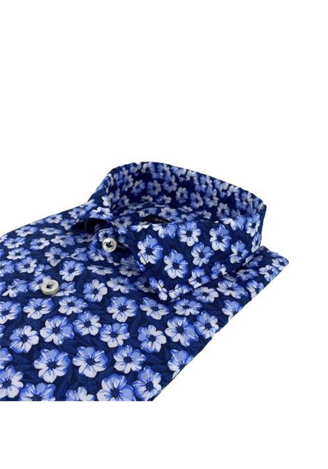 Brian Dales Camicia cotone fantasia fiori blu BRIAN DALES | 6 | BS50SPST8327001