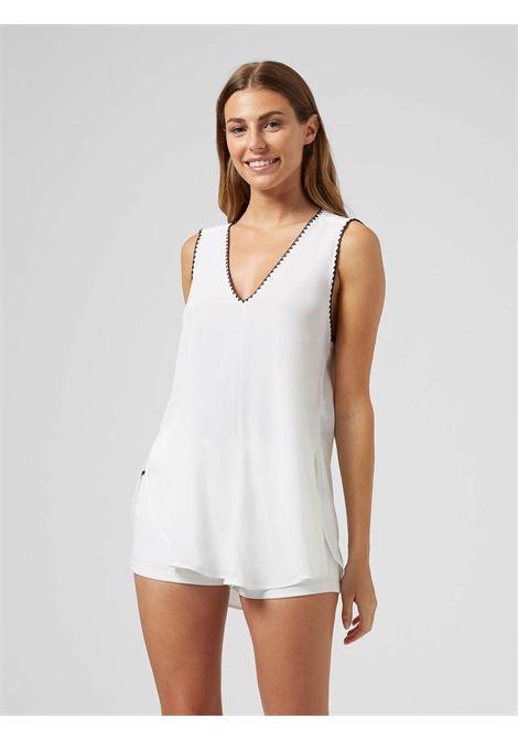 Dondup Camicia senza maniche con ricami DONDUP | 6 | DC191SF0050D000