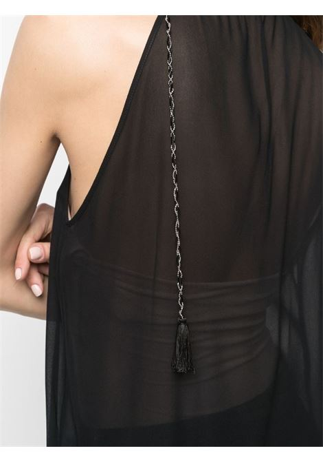 Dondup blusa con catena in georgette senza maniche DONDUP | 6 | DC197IF0017D999