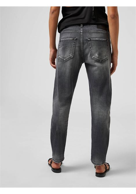 Dondup Jeans Regular Mila nero con rotture DONDUP | 24 | DP466DS0272DBC6