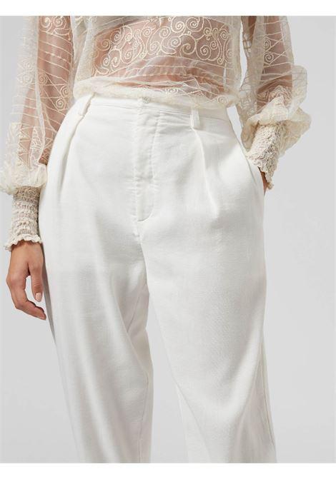 Dondup  pantalone Naima  In Cotone Bianco DONDUP | 9 | DP543AF0041X002001