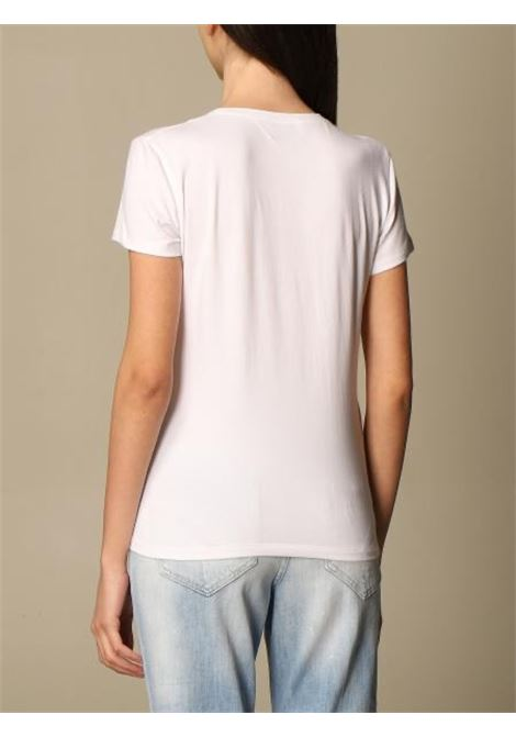 Dondup T-shirt slim in jersey stretch con logo gioiello DONDUP | 8 | S007JS0241DBI3000