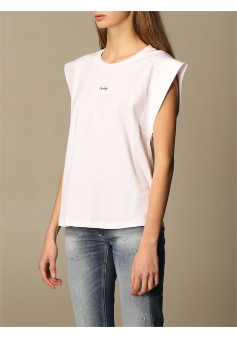 Dondup Top s/m unito con logo DONDUP | 40 | S861JF0234DBM8000
