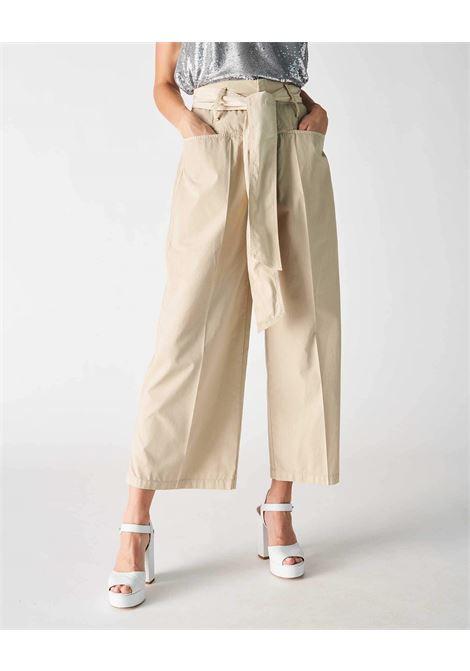 Grifoni pantalone crop arriccio vita con cintura Grifoni | 9 | GI240016/13512