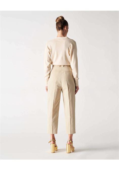 Grifoni Pantalone crop vita alta con pinces Grifoni | 9 | GI240023/26512