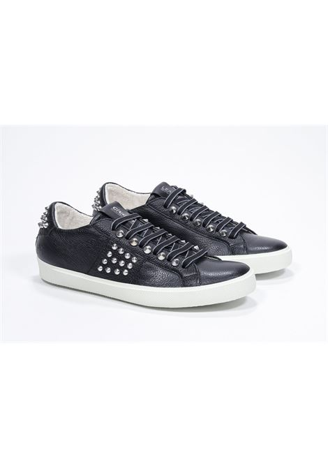Leather Crown sneakers pelle nera  Studlight prorprio LEATHER CROWN | 12 | LC148M201312